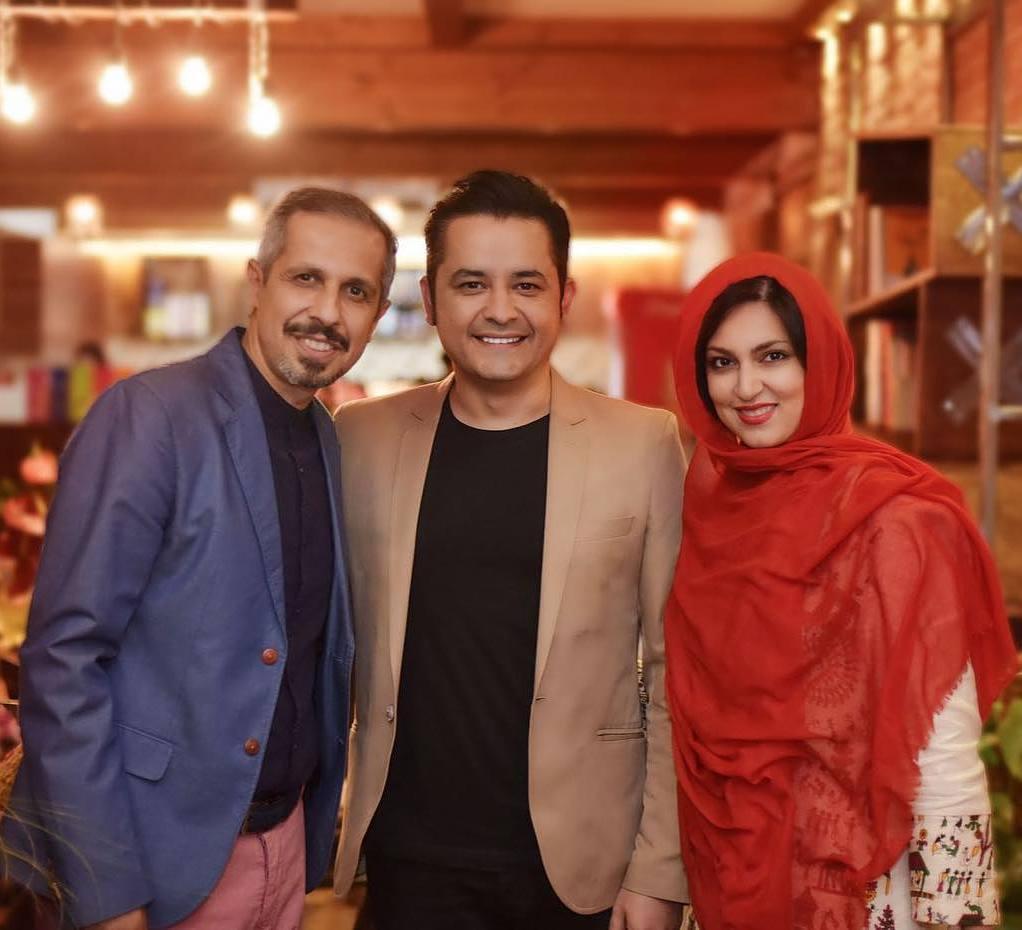 عکس افشین زی نوری با همسرش