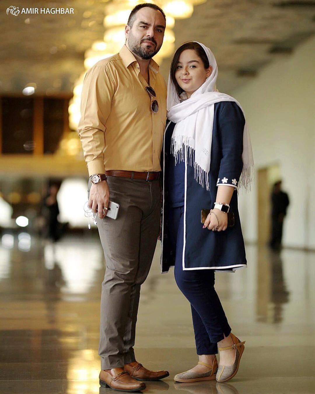 عکس زیبای شهرام قائدی با دخترش