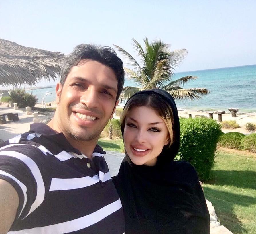 عکس سپهر حیدری با همسرش