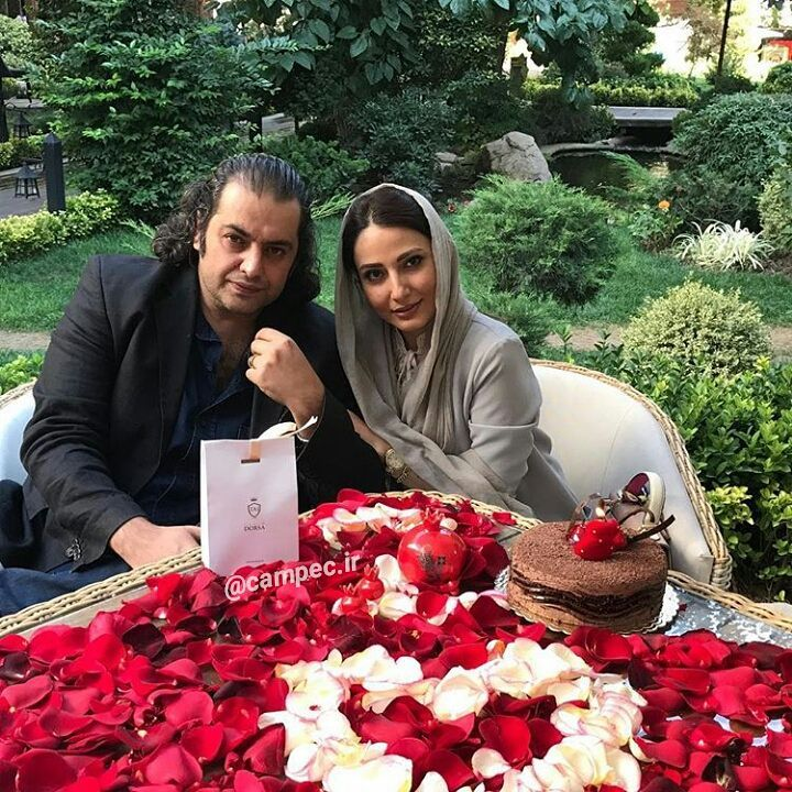 سمیرا حسن پور با همسرش سامان سالور