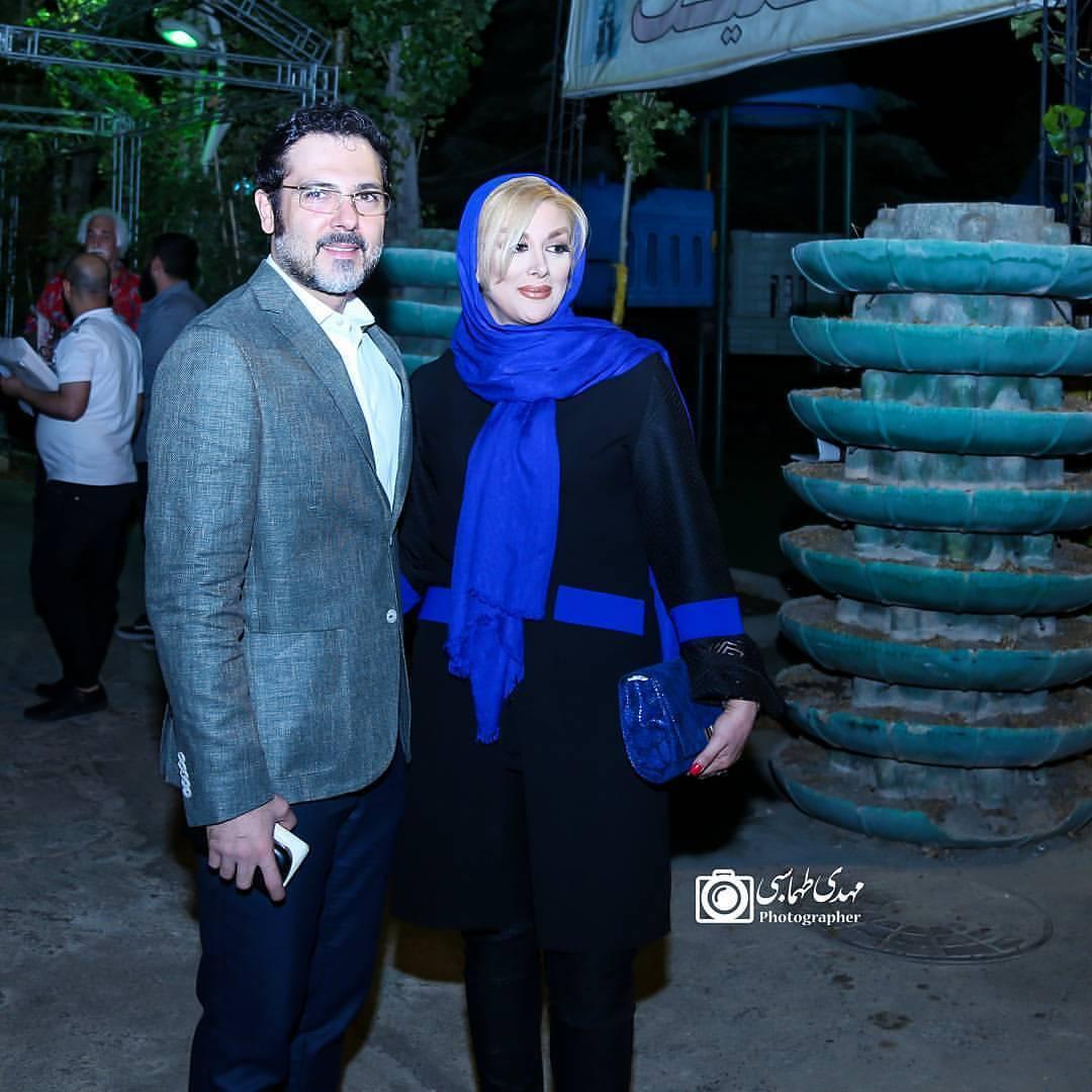 عکس کوروش تهامی با همسرش