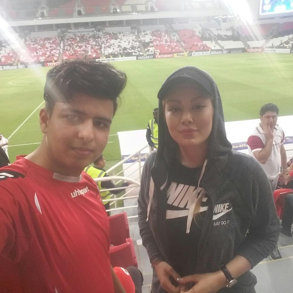 سحر قریشی در ورزشگاه ابوظبی بازی پرسپولیس و الاهلی