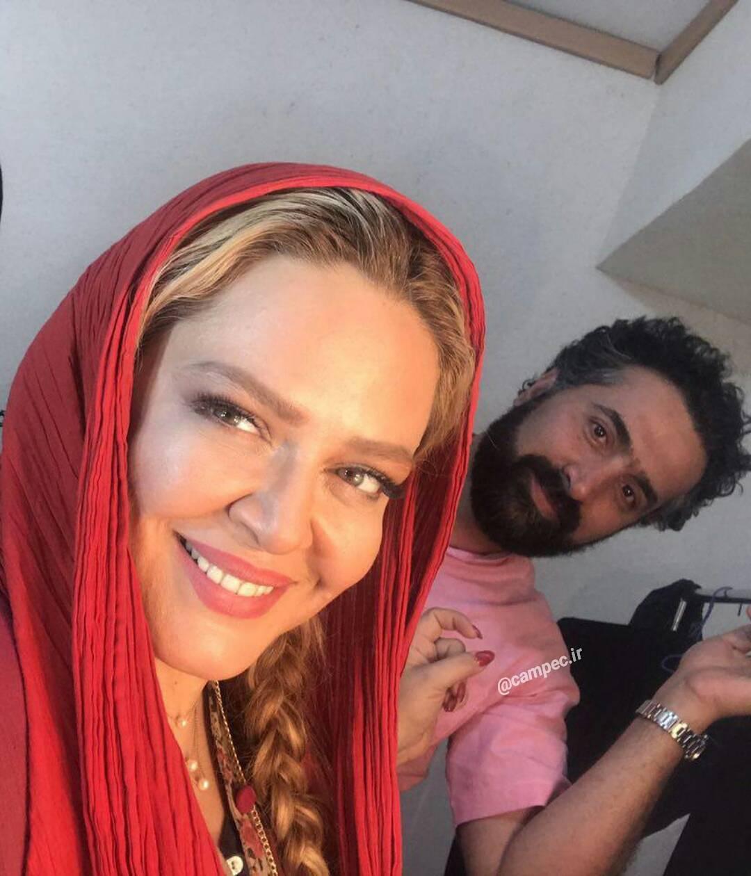 جدید ترین عکس بهاره رهنما با همسرش