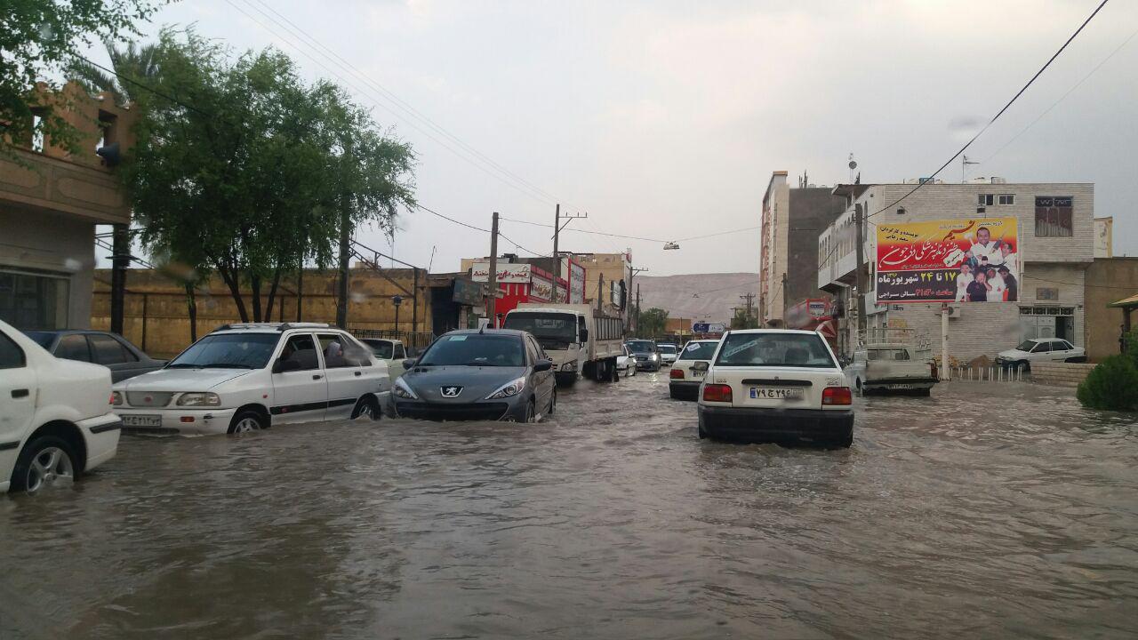 رخداد سیل و آبگرفتگی در جنوب فارس