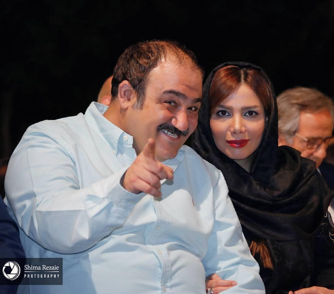 جدید ترین عکس مهران غفوریان با همسرش