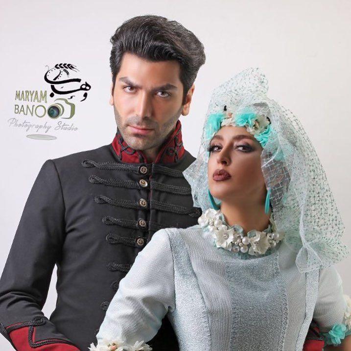 فریبا طالبی با همسرش