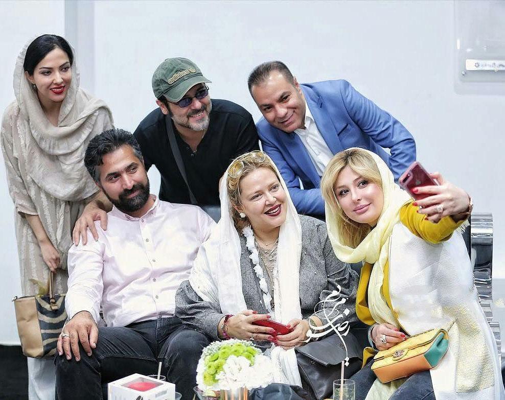 عکس جدید بهاره رهنما با همسر و سایر هنرمندان
