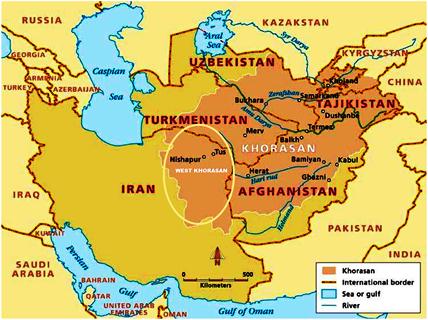 نیشابور (مرکز خراسان بزرگ غربی) در خراسان بزرگ ایران فرهنگی