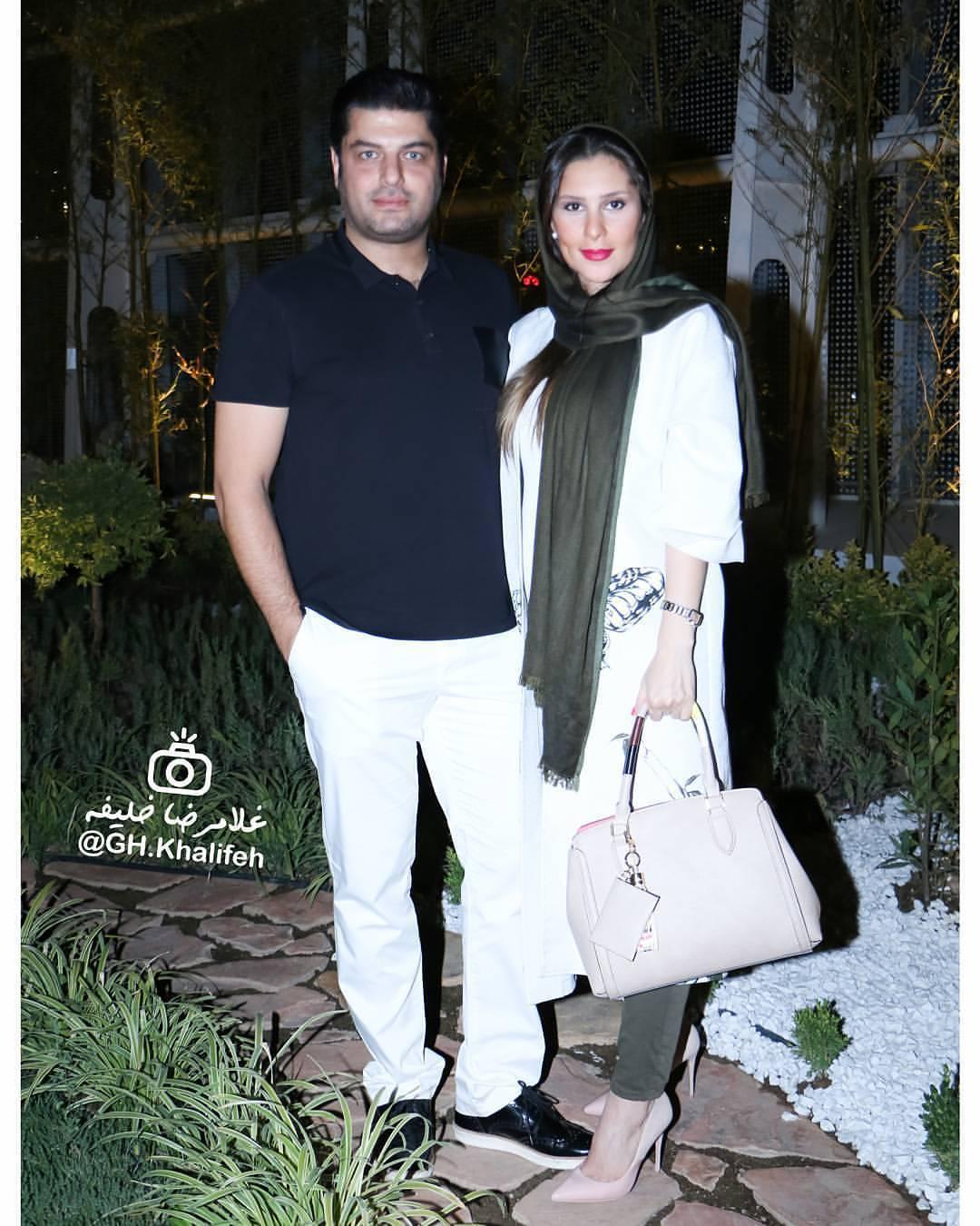 عکس جدید سام درخشانی با همسرش