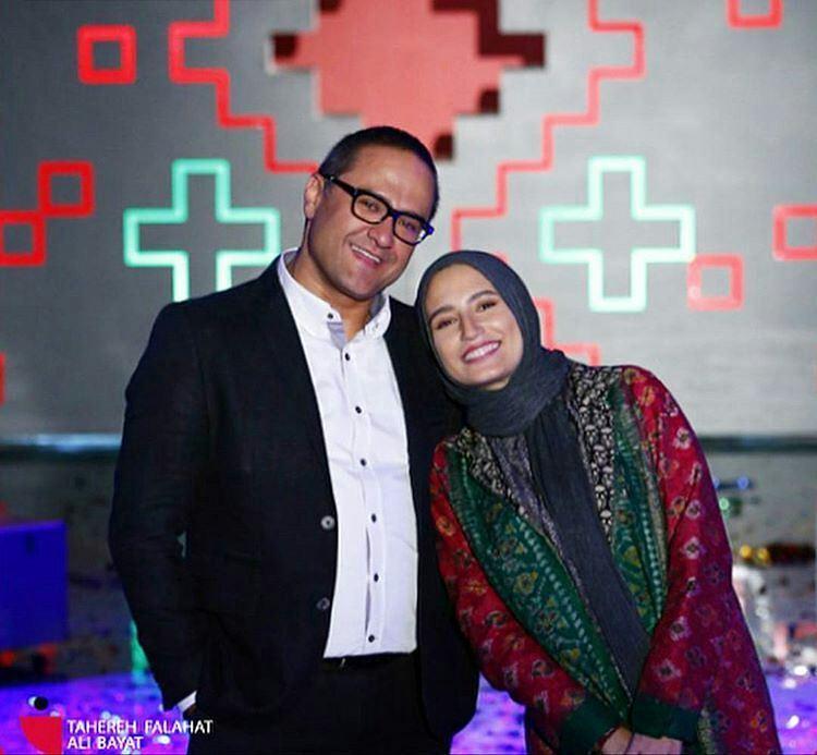 عکس نگار جواهریان با همسرش رامبد جوان در خندوانه