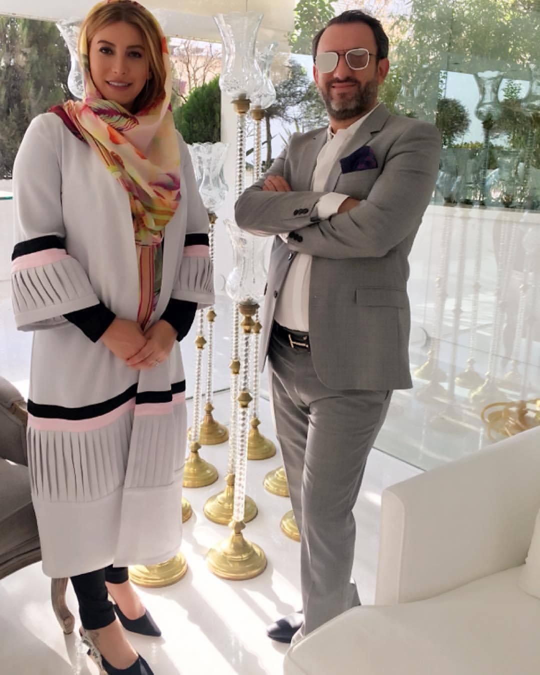 جدید ترین عکس فریبا نادری با همسرش