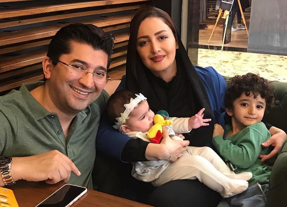 جدید ترین عکس شیلا خداداد با همسر و فرزندانش