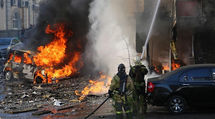 آتش سوزی هتلی در روسیه
