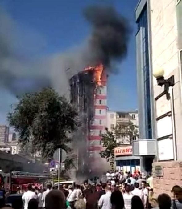 آتش سوزی هتلی در جنوب روسیه