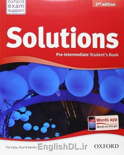 کتاب Solutions Pre-Intermediate ویرایش دوم