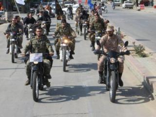 رژه بسیجیان در ملایر