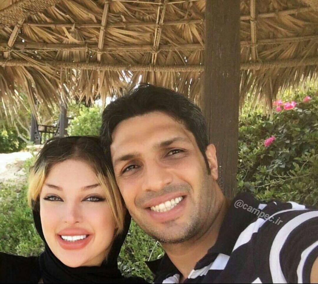 جدید ترین عکس سپهر حیدری و همسرش