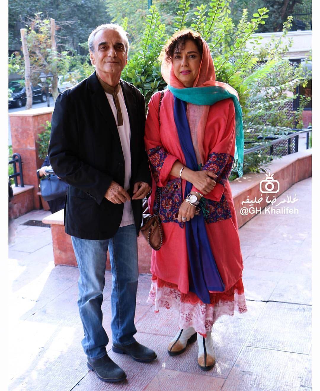 عکس شخصی همایون ارشادی با همسرش