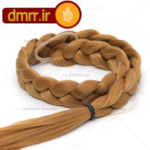 کش مو بافت طلایی رنگ بلند دخترانه زنانه