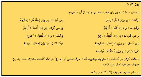 آموزش درس عربی - مطالب عربی نهم