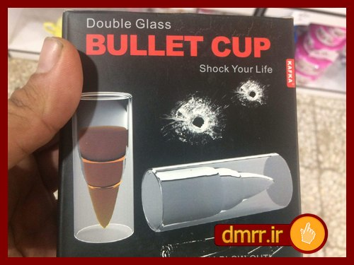 شات فنجان شیشه ای طراحی گلوله
