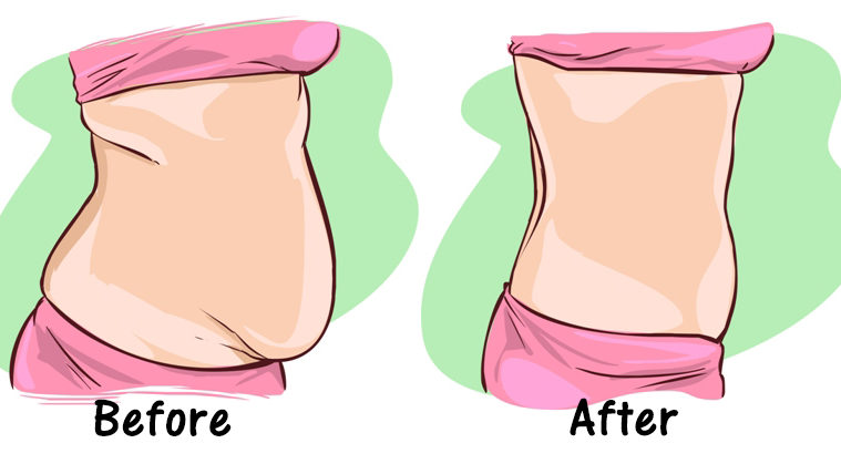 لاغری شکم بدون عوارض