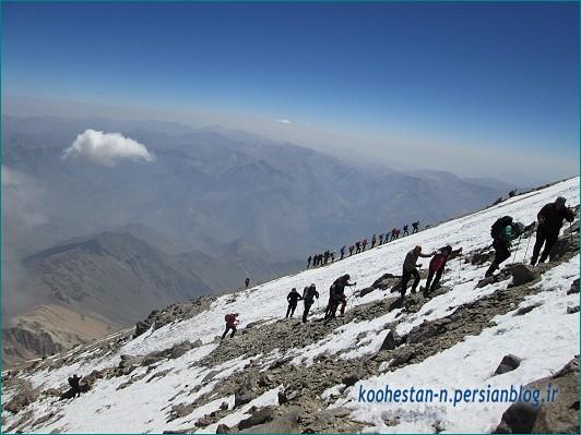 قله دماوند مسیر شمالی