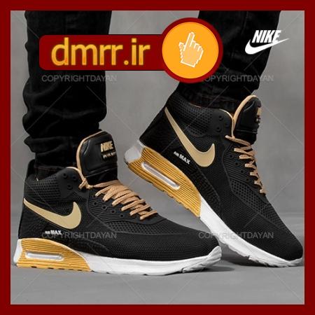کفش کتونی مشکی ساق دار Nike مناسب برای زمستان