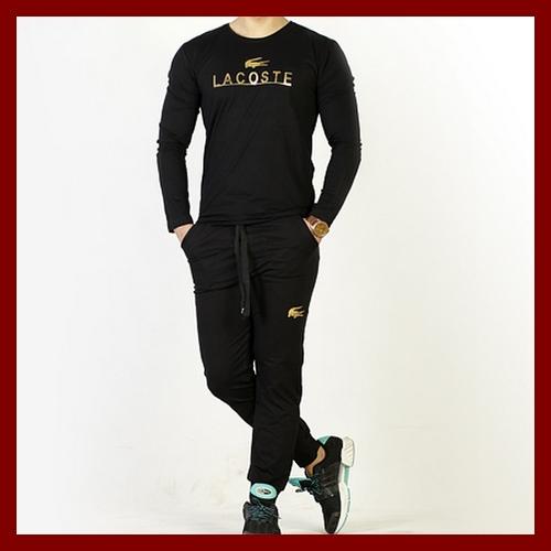 خرید اینترنتی تی شرت مشکی و شلوار لاکوست Lacoste