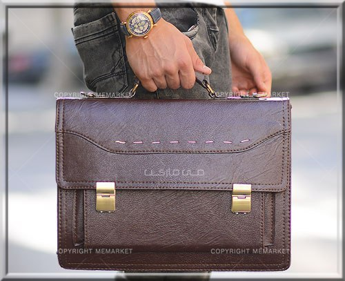 کیف اداری مردانه چرم مصنوعی رنگ قهوه ای