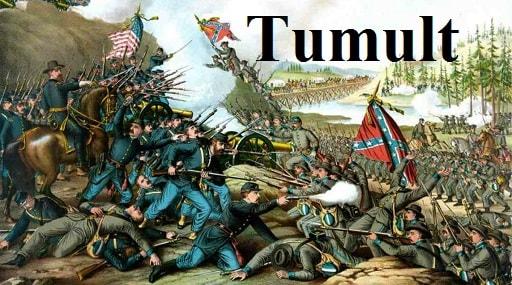 آشوب – Tumult – آموزش لغات کتاب ۵٠۴ – English Vocabulary – کدینگ لغات ۵٠۴