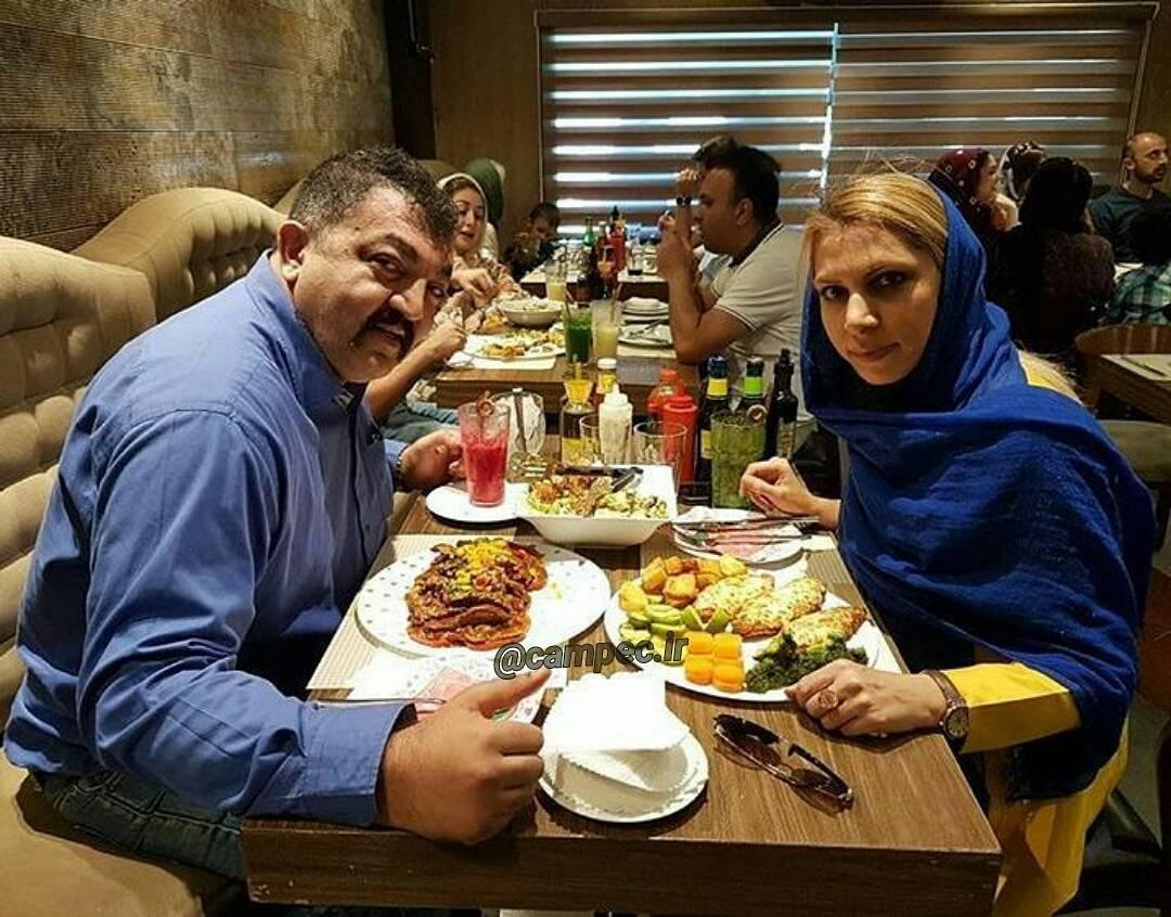 عکس دیدنی احمد ایراندوست و همسرش
