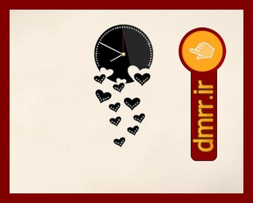 خرید ارزان ساعت دیواری دایره ای قلب عاشقانه