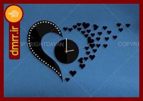 فروش ساعت دیواری فانتزی تایوانی عاشقانه طرح قلب