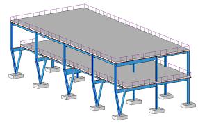 انجام کامل پروژه بارگذاری سازه های بتنی و فولادی