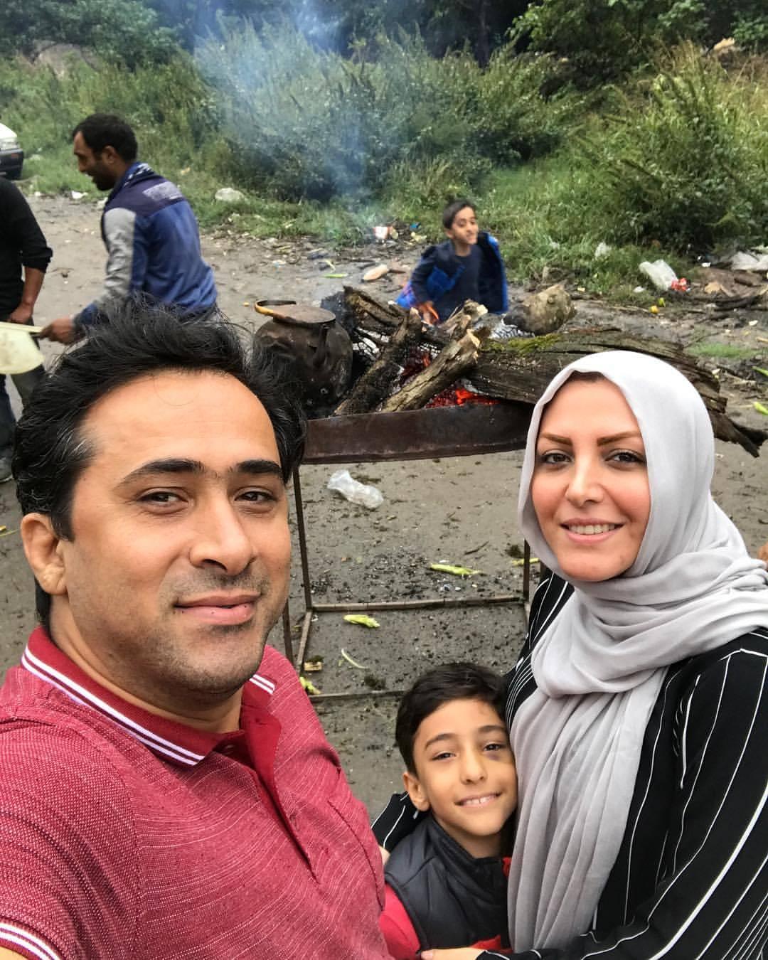 عکس المیرا شریفی مقدم و همسرش داود عابدی