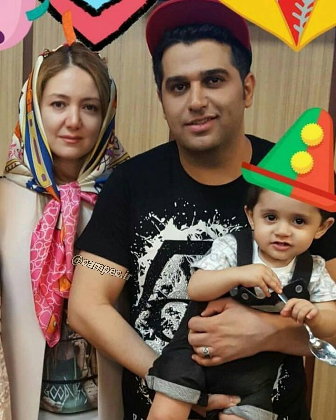 عکس شخصی حمید عسکری با همسر و پسرش