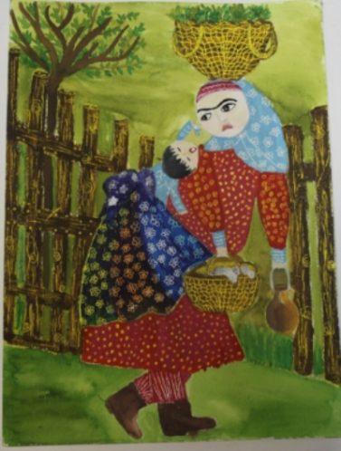 دختر گیلانی،افتخار آفرین در مسابقه بین المللی نقاشی ژاپن