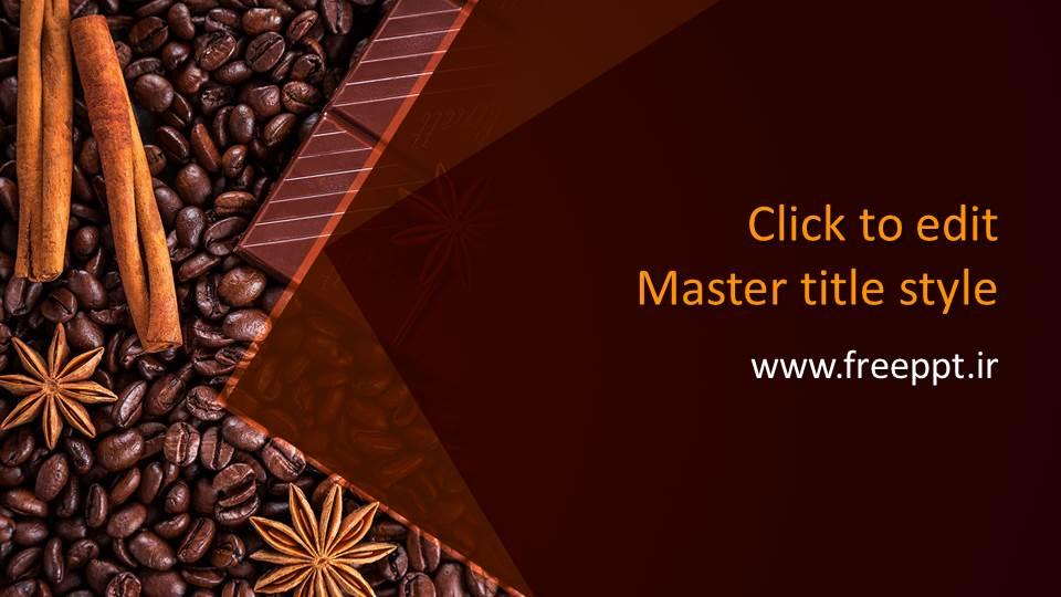 قالب پاورپوینت قهوه درجه یک