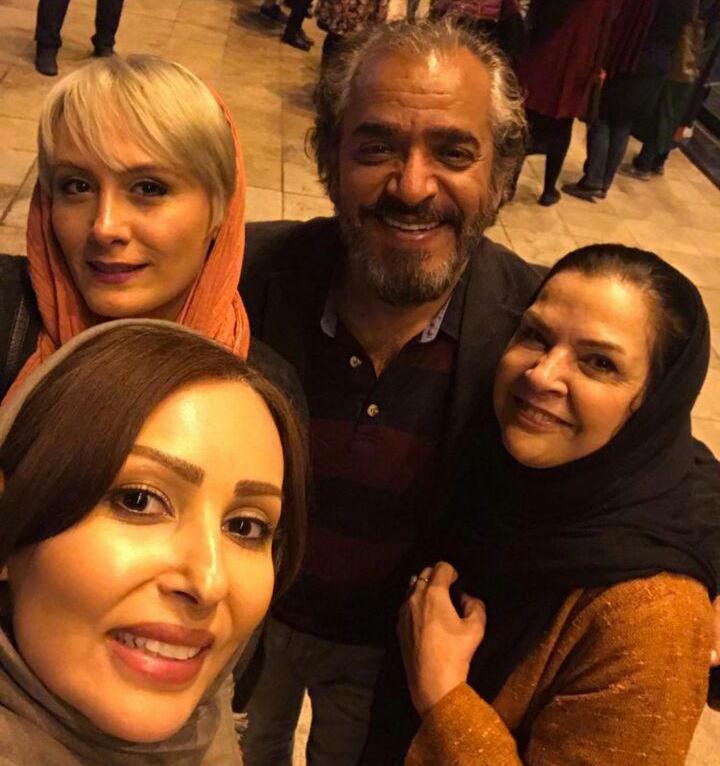 افسر اسدی و همسرش اصغر همت و پرستو صالحی