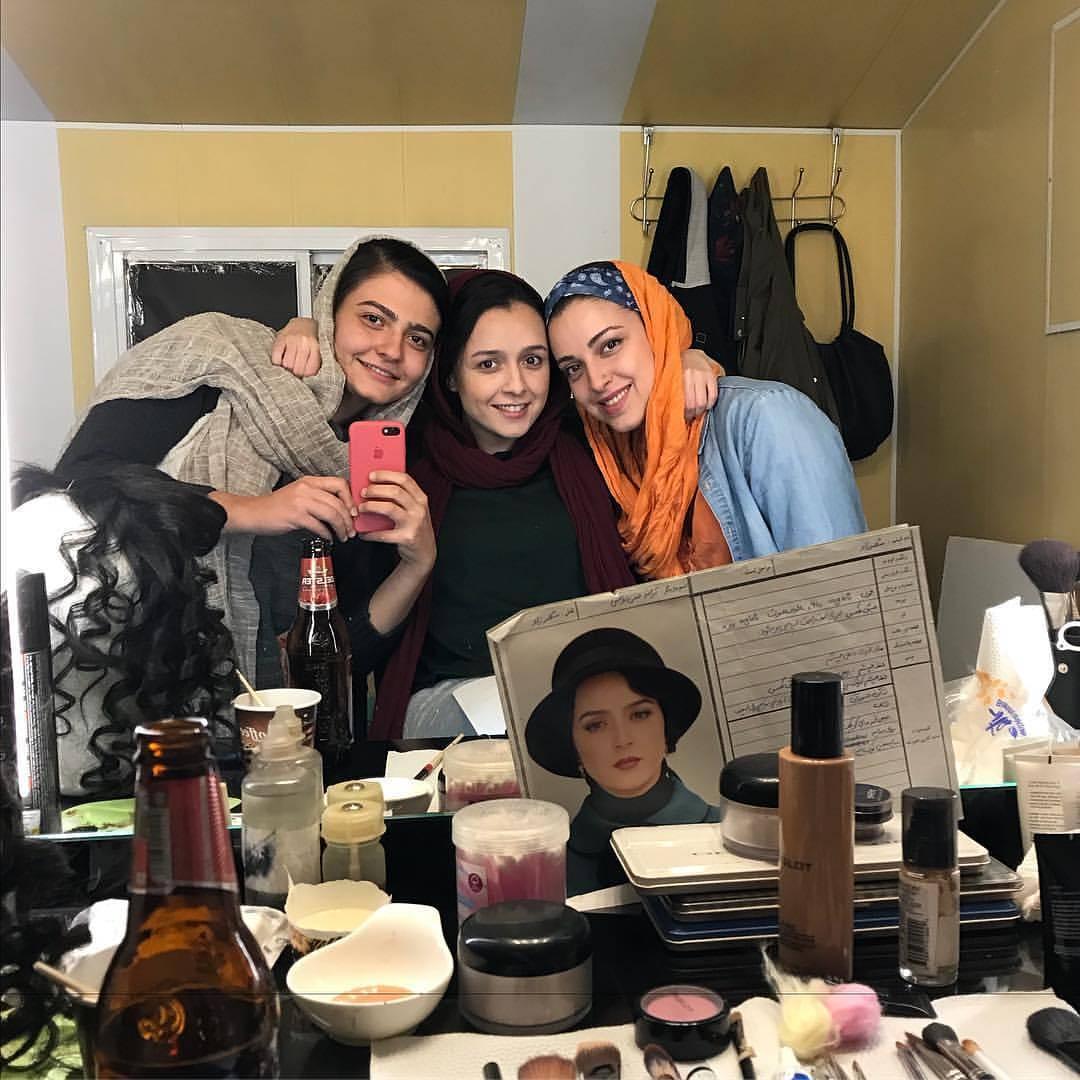 عکس ترانه علیدوستی در اتاق گریم سریال شهرزاد3