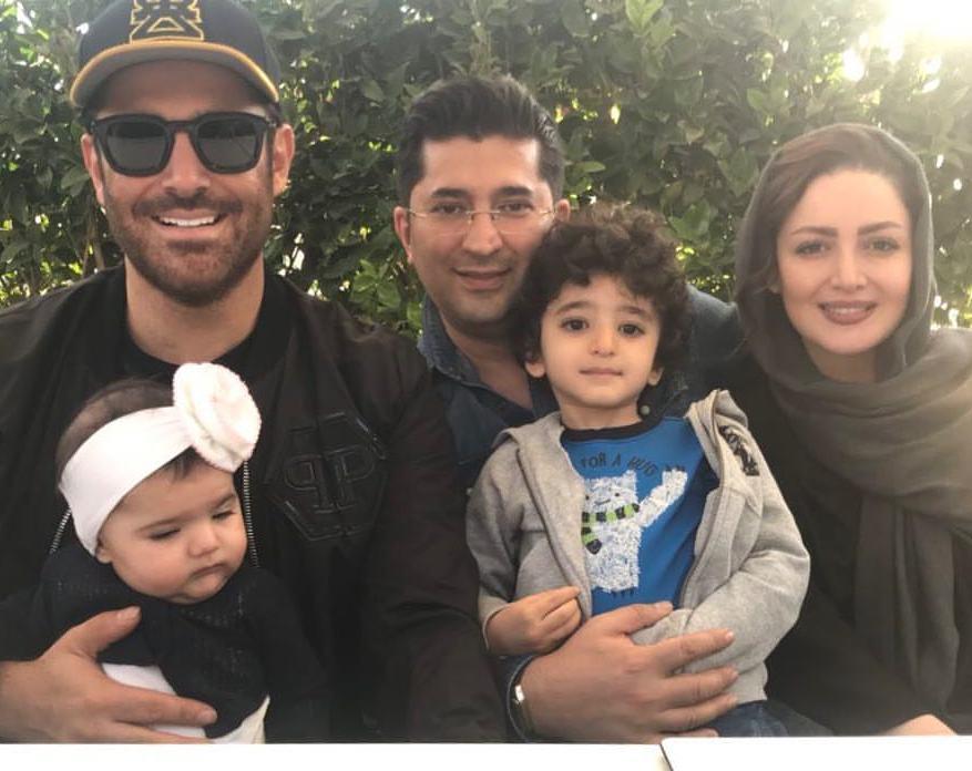 محمدرضا گلزار با خانواده شیلا خداداد