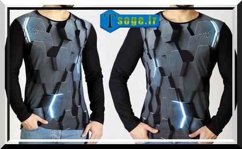 تی شرت سه بعدی مدرن مردانه پسرانه پاچه ویسکوز