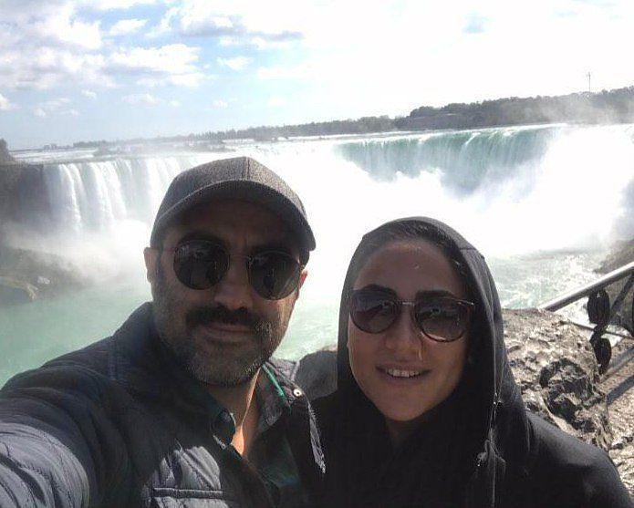 عکس محسن تنابنده با همسرش در کانادا