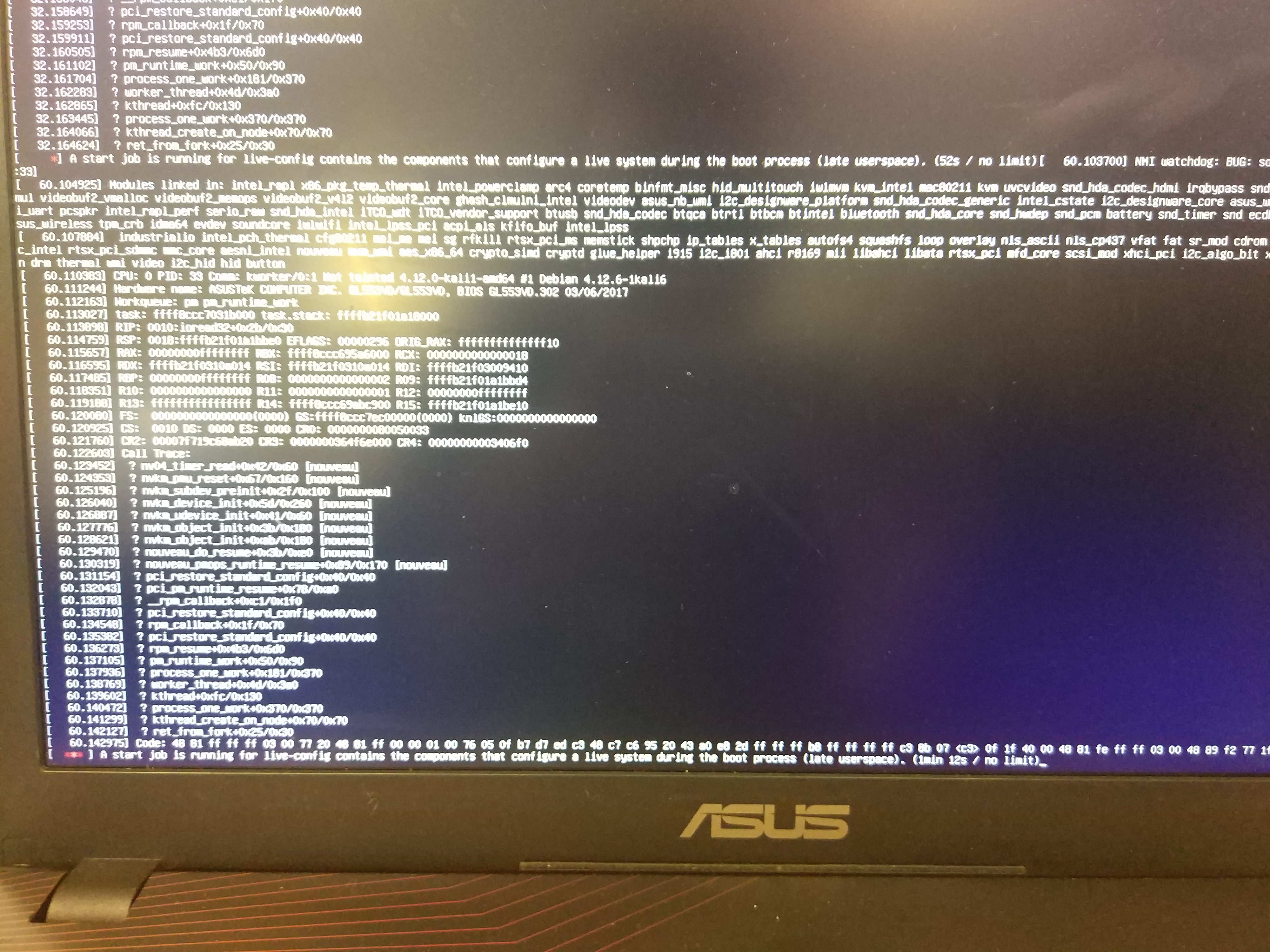asus laptop cant boot from usb