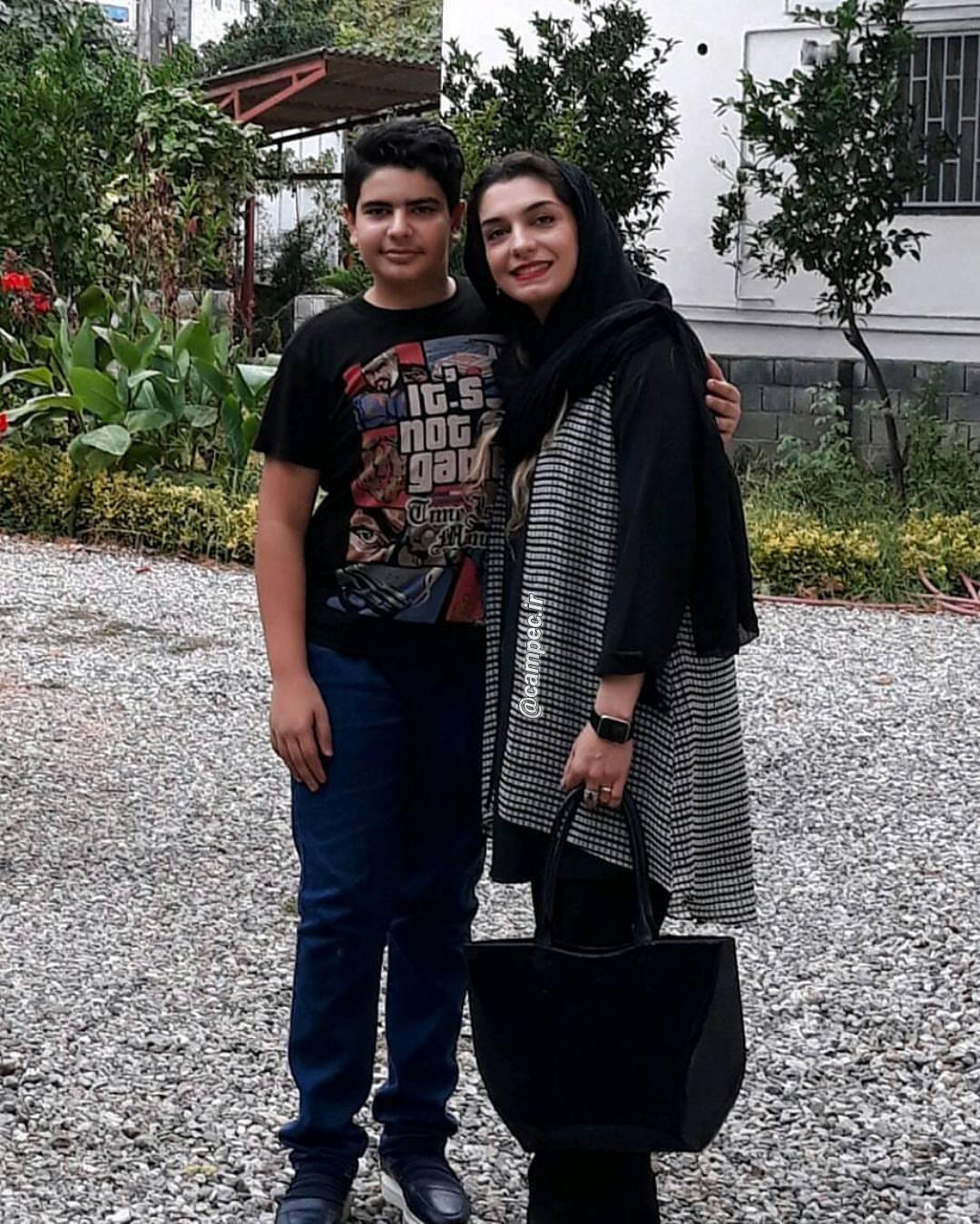 عکس جدید الیکا عبدالرزاقی با برادرزاده اش