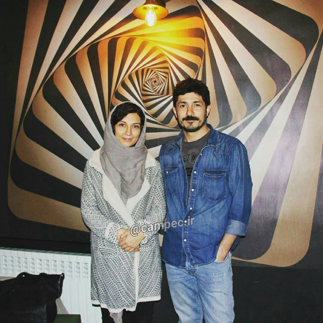 عکس متفاوت حدیث میرامینی و همسرش مجتبی رجبی