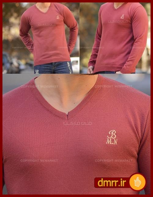 لباس بافت مردانه یقه هفت زرشکی کش بافت فری سایز