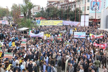گزارش تصویری مراسم راهپیمایی یوم الله ۱۳ آبان