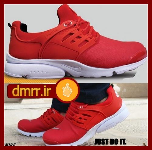 خرید اینترنتی کفش رویه قرمز و زیر سفید مردانه